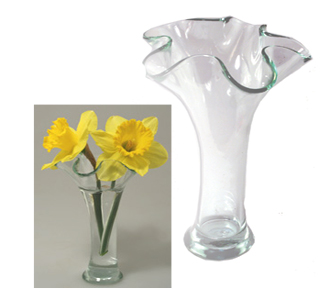 2 oz Clear Ruffle Reed Diffuser Vase