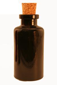 3.4 oz Black Mini Apothecary Reed Diffuser Bottle