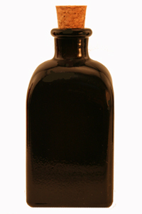 3.4 oz Black Mini Rectangle Reed Diffuser Bottle