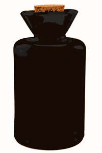 5.1 oz Black Funnel Reed Diffuser Bottle