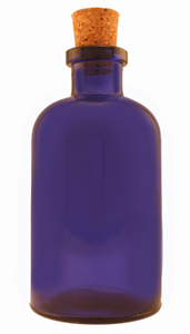 8 oz Cobalt Blue Apothecary Reed Diffuser Bottle