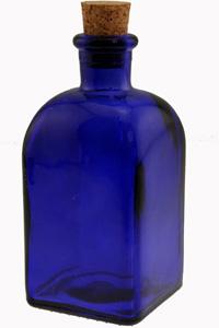 8.5 oz Cobalt Rectangle Reed Diffuser Bottle