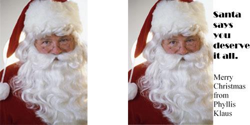 Custom Printed Self-Stick Label - Santa Photo