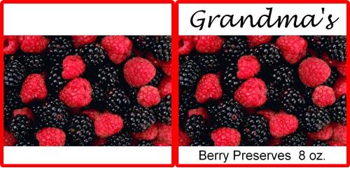 Custom Printed Self-Stick Label - Berries
