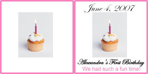 Custom Printed Self-Stick Label - Cupcake Pink