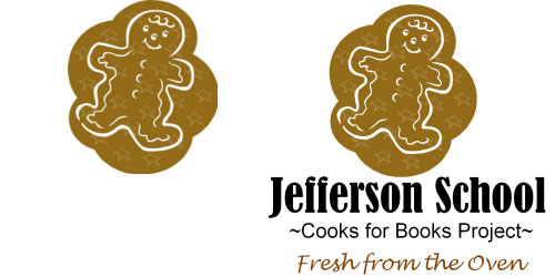 Custom Printed Self-Stick Label - Gingerbread Man