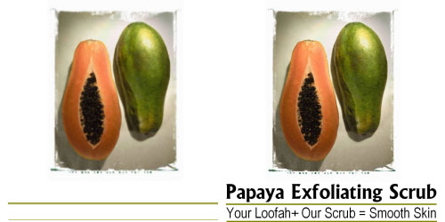 Custom Printed Self-Stick Label - Papaya