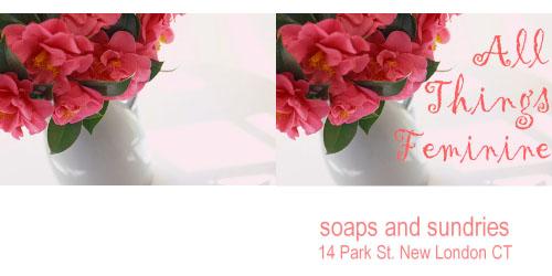 Custom Printed Self-Stick Label - Pink Bouquet