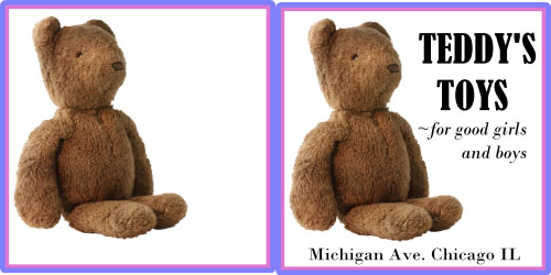 Custom Printed Self-Stick Label - Teddy Bear