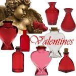 valentine glassware